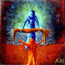 Jesus wird vom Kreuz abgenommen und in den Schoß seiner Mutter gelegt