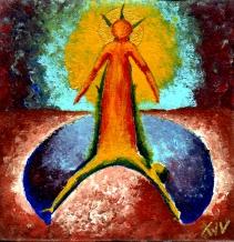 Der heilige Leichnam Jesu wird in das Grab gelegt.