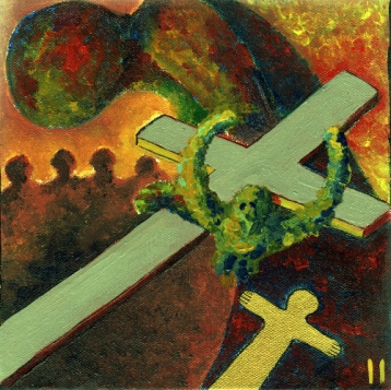 Jesus nimmt das Kreuz auf