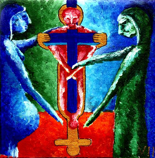 Jesus fällt zum zweiten Mal unter dem Kreuz