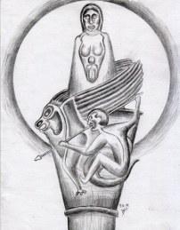 in der Symbolik ist ein romanisches Kapitel verarbeitet.