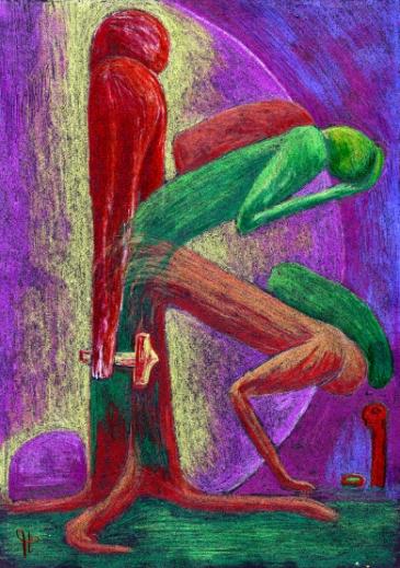 Die innere Aufrichtung, von der Abhängigkeit (Götze), über die Selbstbesinnung zur Eigenständigkeit